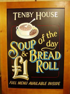 Tenby Signs for Tenby House