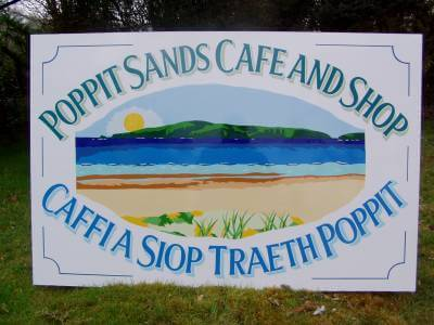 Cardigan Signs for Poppit Sands Cafe and Shop