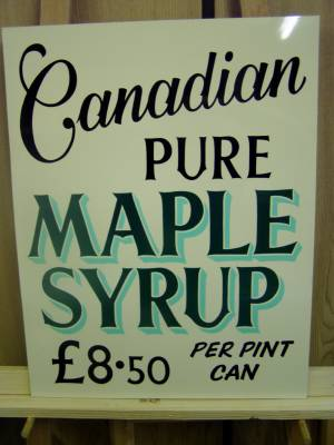 Narberth Signs for Canadian Pure Maple Syrup