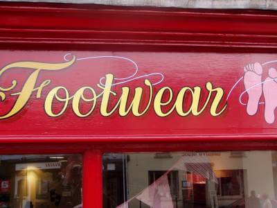 Carmarthen Signs for Funky Feet Childrens Footwear - Image 3