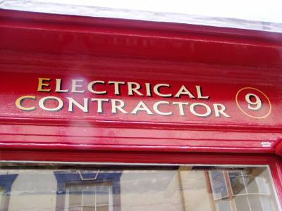 Aberystwyth Signs for Les Jones Electrical Contractor - Image 2