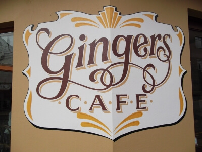Milford Haven Signs for Gingers Cafe