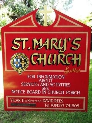Haverfordwest Signs for St Mary's Cafe