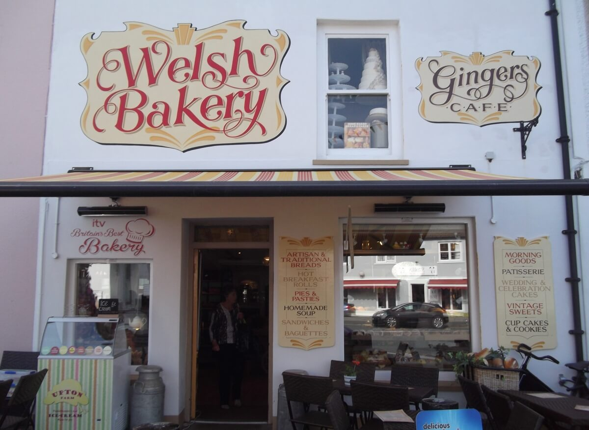 Harverfordwest Signs for Welsh Bakery