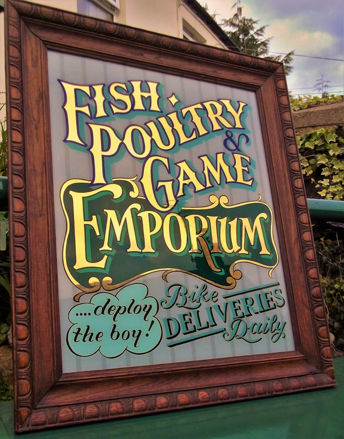 Signs for Fish Poultry and Game