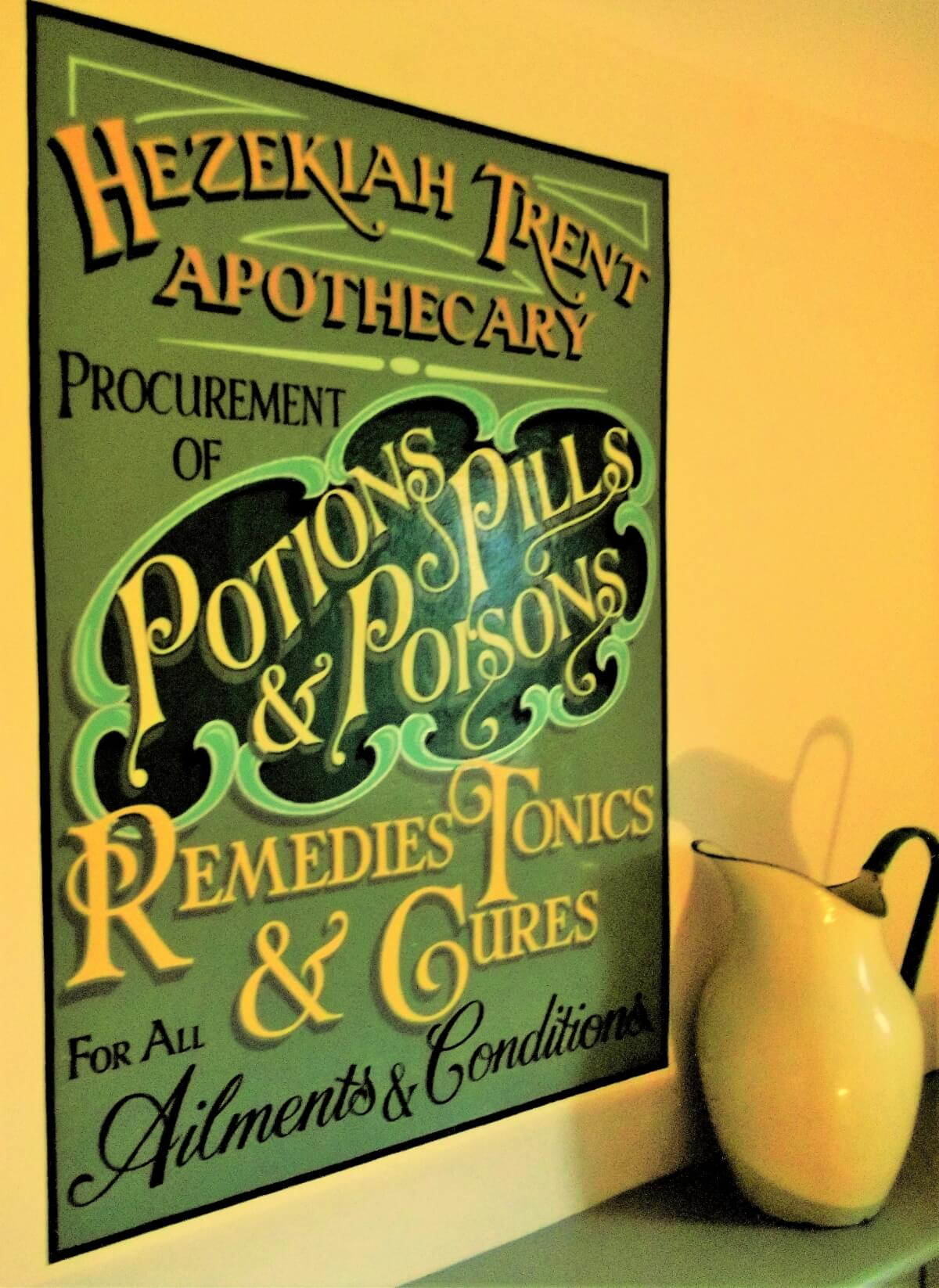 Narberth Signs for Potions, Pills & Poisons