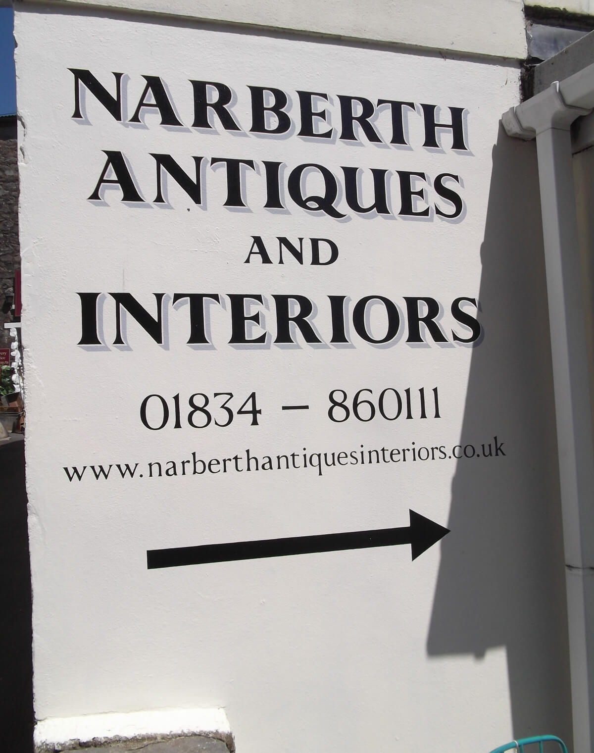 Narberth Signs for Narberth Antiques - Image 1