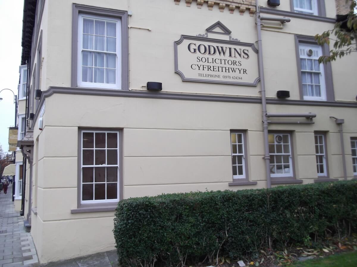 Aberystwyth Signs for Godwins Solicitors - Image 1