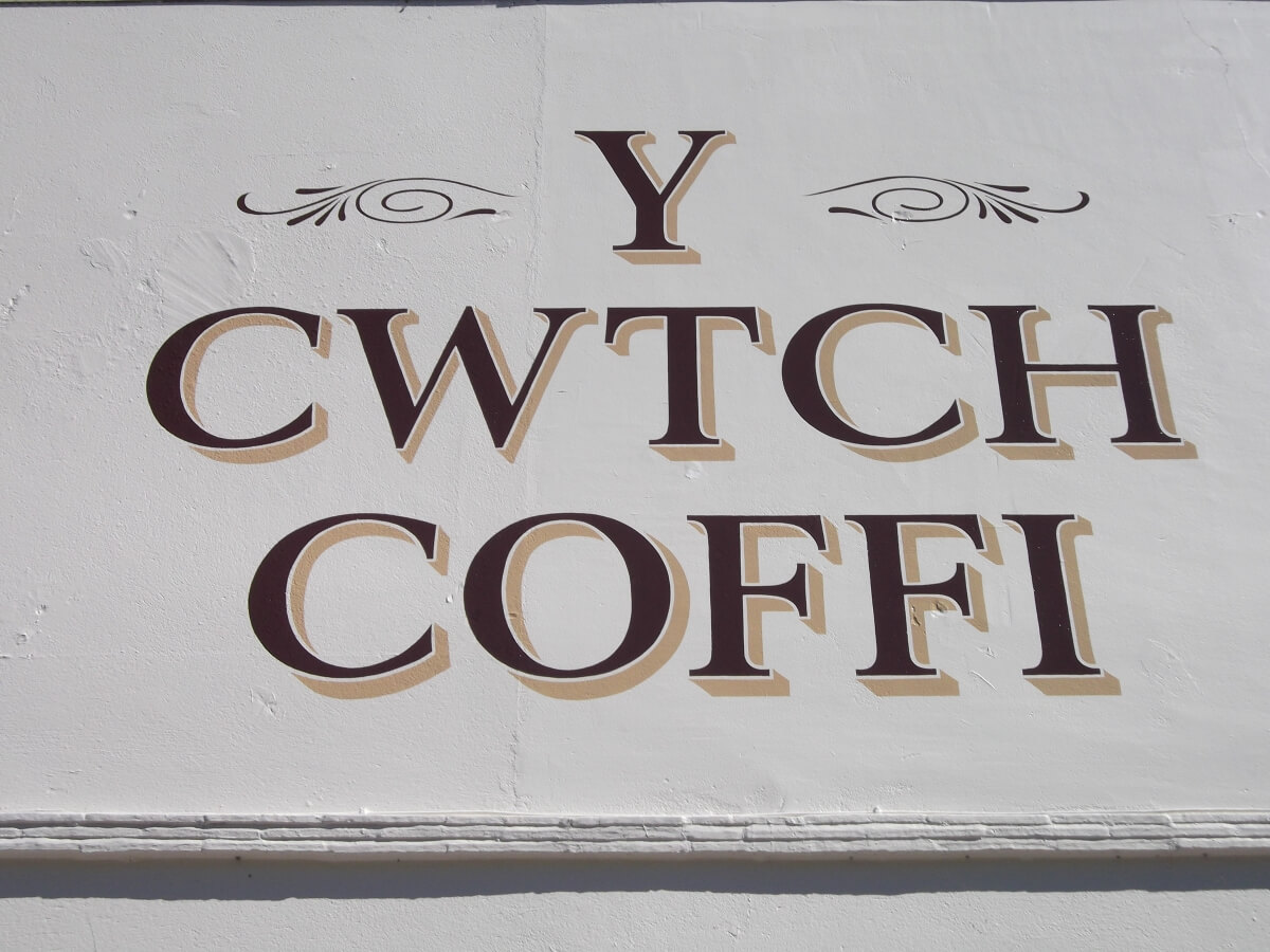 Newcastle Emlyn Signs for Cwtch Coffi