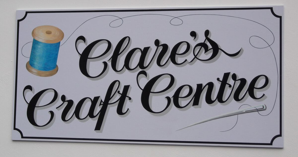 Pembroke Dock Signs for Clare's Craft Centre