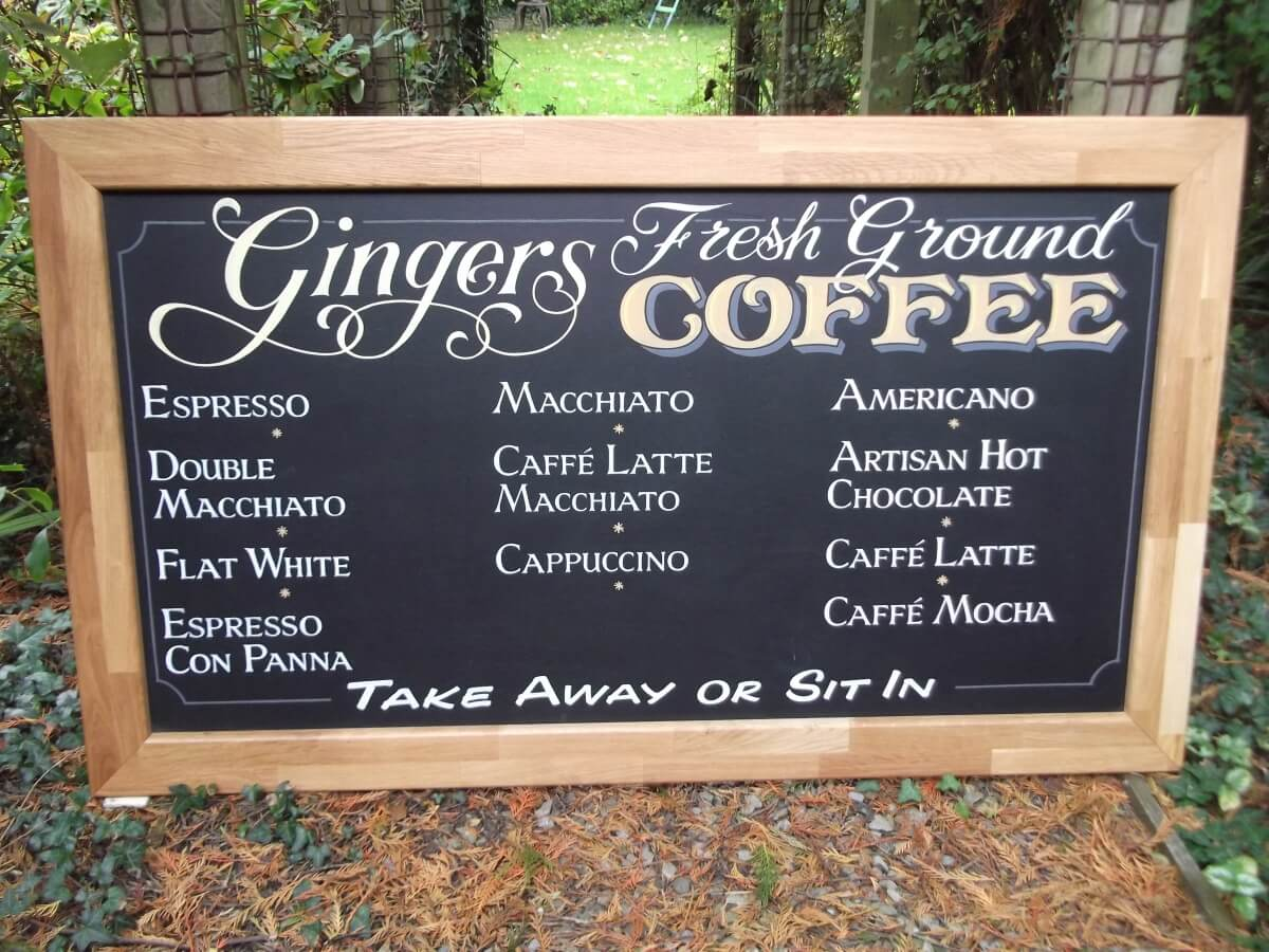 Signs for Gingers Menu - Image 1
