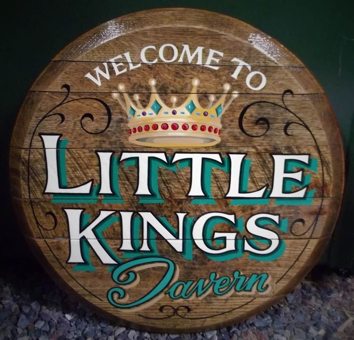 Nr Narberth Signs for Little Kings Holiday Park