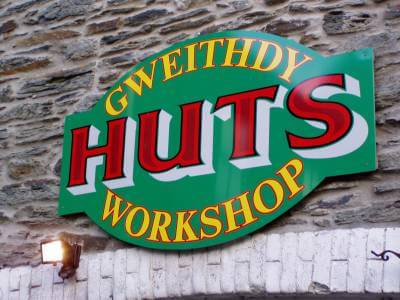 Newcastle Emlyn Signs for Gweithdy Huts Workshop