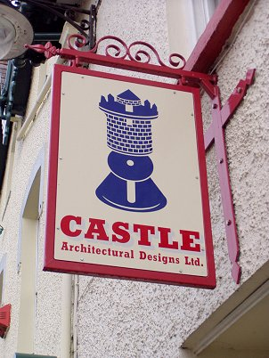 Newcastle Emlyn Signs for Castle Architectural Designs Ltd