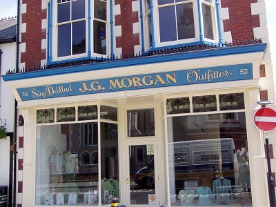 Cardigan Signs for J G Morgan