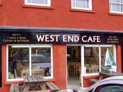 Llandovery Signs for West End Cafe